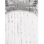Stylish Round Neck Cutout Embroidery Beaded Dress For Women for sale