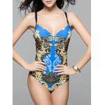 Fashionable Strappy Cut Out One-Piece Swimsuit For Women