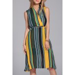 Hit Color Striped Dress
