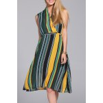 Hit Color Striped Dress deal