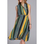 Hit Color Striped Dress for sale