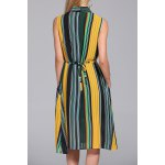 cheap Hit Color Striped Dress