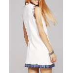 cheap Fashion Stand Neck Sequins Bowknot Embroidery Dress For Women