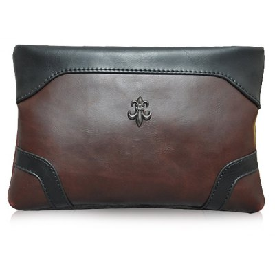 Zip Design Clutch Bag For Men