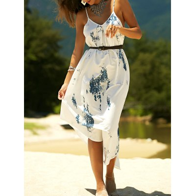 Printed Asymmetric Cami Dress For Women
