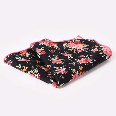 Stylish Sweet Rose Pattern Wedding or Party Business Suit Pocket Square For Men
