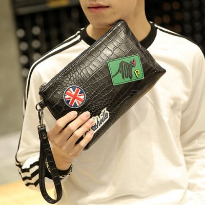 Fashion Black Color and Zip Design Clutch Bag For MenMens Bags<br>Fashion Black Color and Zip Design Clutch Bag For Men<br><br>Style: Fashion<br>Gender: For Men<br>Pattern Type: Patchwork<br>Handbag Size: Small(20-30cm)<br>Closure Type: Zipper<br>Interior: Cell Phone Pocket<br>Occasion: Versatile<br>Main Material: PU<br>Weight: 0.277kg<br>Package Contents: 1 x Clutch Bag<br>Length: 28CM<br>Width: 5CM<br>Height: 17CM