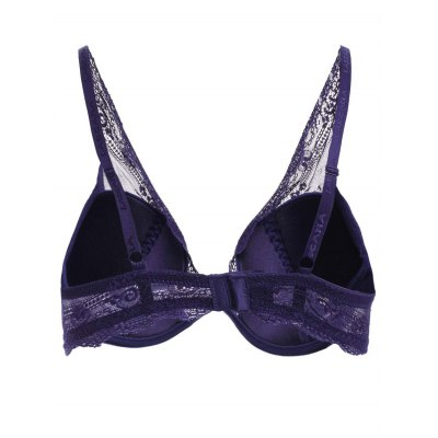 Stunning Plung 3/4 Cup See-Through Lace Spliced Women's Bra
