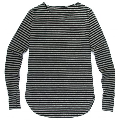 Loose Fit Striped Long Sleeves T-Shirt For Men