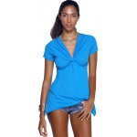 cheap V-Neck Twist Asymmetric T-Shirt