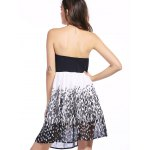 Fashion Spliced Printed Tube Dress For Women for sale