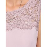 Sweet Button Back Lace Splicing Chiffon Women's Tank Top for sale
