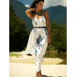 cheap Printed Asymmetric Cami Summer Dress