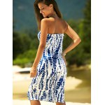 Stylish Strapless Print Shift Dress For Women for sale