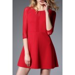 Lace Splicing Patched Dress