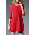 Lace Splicing Patched Dress deal