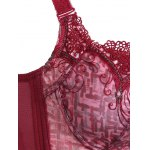 Refreshing Women's Laced Embroidery Padded Thin Bra deal