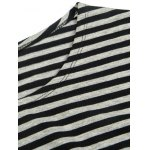 Fashion Loose Fit Striped Long Sleeves T-Shirt For Men deal