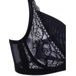 Trendy Spaghetti Strap Push Up Solid Color Lace Bra For Women for sale