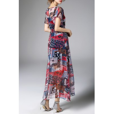 Layered Digital Print Dress and Cami Tank Top TwinsetDesigner Dresses<br>Layered Digital Print Dress and Cami Tank Top Twinset<br><br>Style: Casual<br>Occasion: Day<br>Material: Polyester,Spandex<br>Composition: 70%Silk,30%Polyester<br>Silhouette: A-Line<br>Dresses Length: Ankle-Length<br>Neckline: V-Neck<br>Sleeve Length: Short Sleeves<br>Pattern Type: Print<br>With Belt: No<br>Season: Summer<br>Weight: 0.440kg<br>Package Contents: 1 x Dress 1 x Tank Top