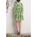 cheap Floral Embroidered A LineDress
