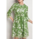 Floral Embroidered A LineDress deal