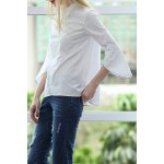 Flat Collar Zippered Cotton Top