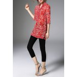 Half Sleeve Long Printed Blouse deal
