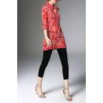 Half Sleeve Long Printed Blouse for sale