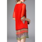 cheap Ethnic Printed Beading Dress