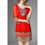 Ethnic Printed Beading Dress deal