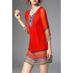 Ethnic Printed Beading Dress for sale