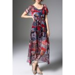 Layered Digital Print Dress and Cami Tank Top Twinset for sale