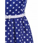best Attractive Polka Dot Printed Sleeveless Ball Gown Dress For Women