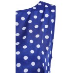 Attractive Polka Dot Printed Sleeveless Ball Gown Dress For Women for sale