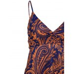 Bohemian Style V-Neck Printed Backless Women's Maxi Dress photo