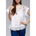 Cami Top and Retro Embroidery Blouse Twinset