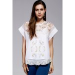 Cami Top and Retro Embroidery Blouse Twinset deal