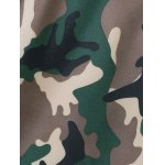 Stylish Camo Cross Back Tankini Set For Women photo