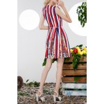 cheap Sequined Striped Sundress