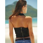 Alluring Halter Neck Backless Women's Crop Top for sale