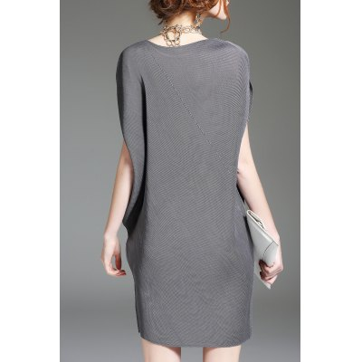 Batwing Sleeve Shift Mini DressDesigner Dresses<br>Batwing Sleeve Shift Mini Dress<br><br>Style: Shift<br>Occasion: Casual<br>Material: Polyester<br>Composition: 100% Polyester<br>Dresses Length: Mini<br>Neckline: Round Collar<br>Sleeve Type: Batwing Sleeve<br>Sleeve Length: Short Sleeves<br>Pattern Type: Solid<br>With Belt: No<br>Season: Summer<br>Weight: 0.390kg<br>Package Contents: 1 x Dress