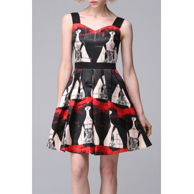 Patterned Mini Tiered Dress
