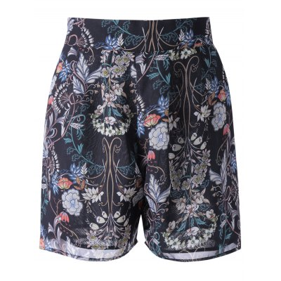 Loose-Fitting High Rise Floral Print Shorts For Women