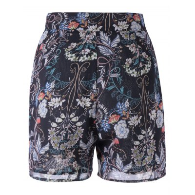 Fashionable Loose-Fitting High Rise Floral Print Shorts For Women