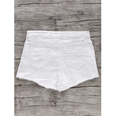 Chic High Waist White Frayed Fringe Denim Shorts For WomenShorts<br>Chic High Waist White Frayed Fringe Denim Shorts For Women<br><br>Style: Fashion<br>Length: Mini<br>Material: Jeans<br>Fit Type: Regular<br>Waist Type: High<br>Closure Type: Zipper Fly<br>Front Style: Flat<br>Pattern Type: Solid<br>Embellishment: Frayed,Tassel<br>With Belt: No<br>Weight: 0.257kg<br>Package Contents: 1 x Shorts