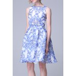 Blue and White Porcelain Print Sundress