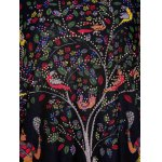 Plus Size Scoop Neck Tree Print Figure and Animal Pattern Women's Dress for sale