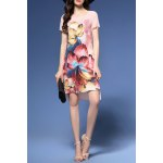 Floral Print High Low Dress deal