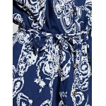 Casual Front Button Closure Printed Women's Blue Dress photo